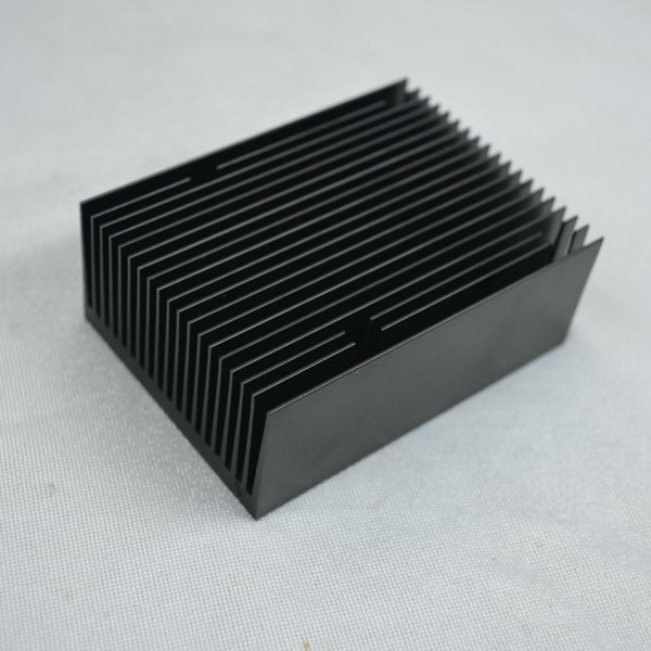 Black Anodizing Aluminum Extrusion Heat Sink