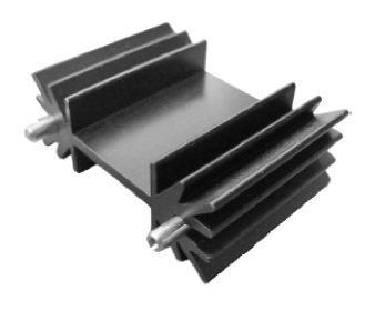 TO127 Extrusion Heat Sink Black Anodized